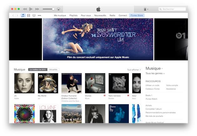 achat de musique en ligne