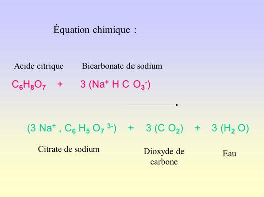 acide citrique bicarbonate de soude