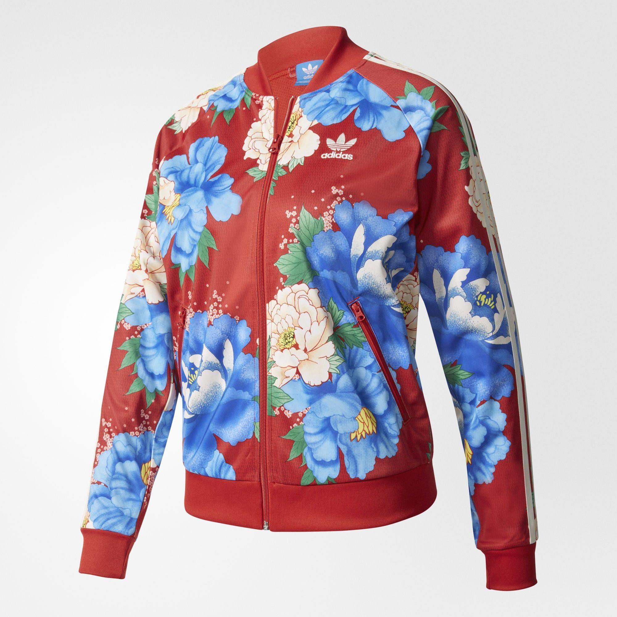 adidas veste femme fleur