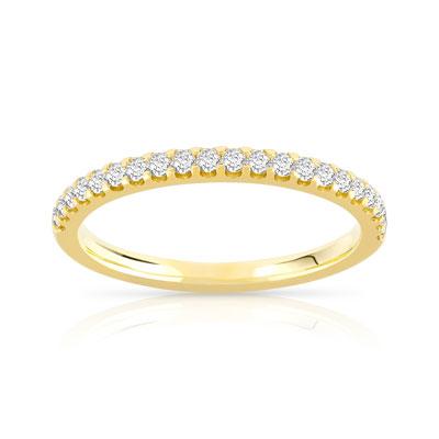 alliance or diamant femme