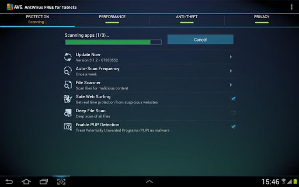 antivirus tablette samsung
