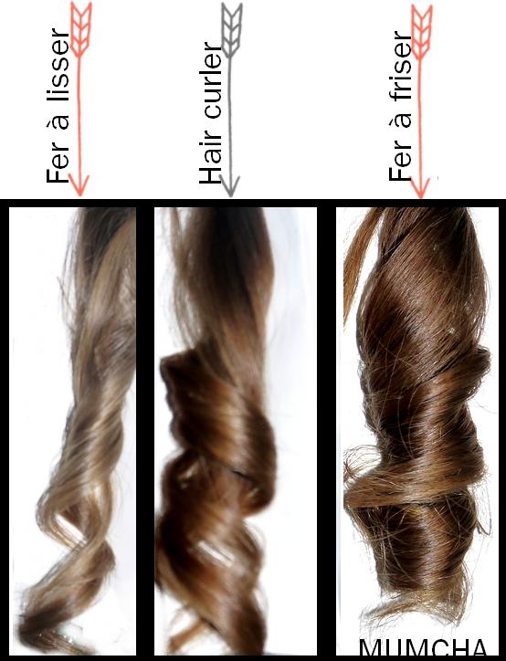 appareil cheveux bouclés