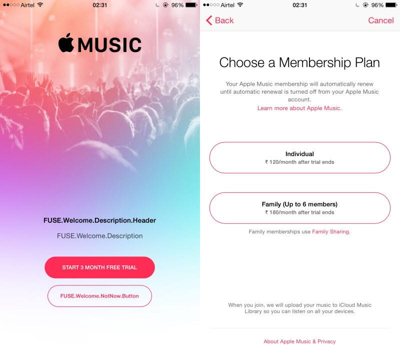 apple music prix