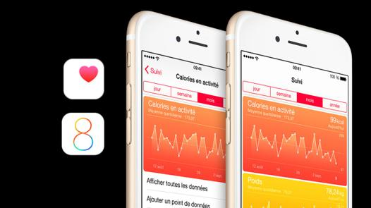 application santé iphone podometre