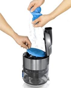 aspirateur sans sac filtre lavable