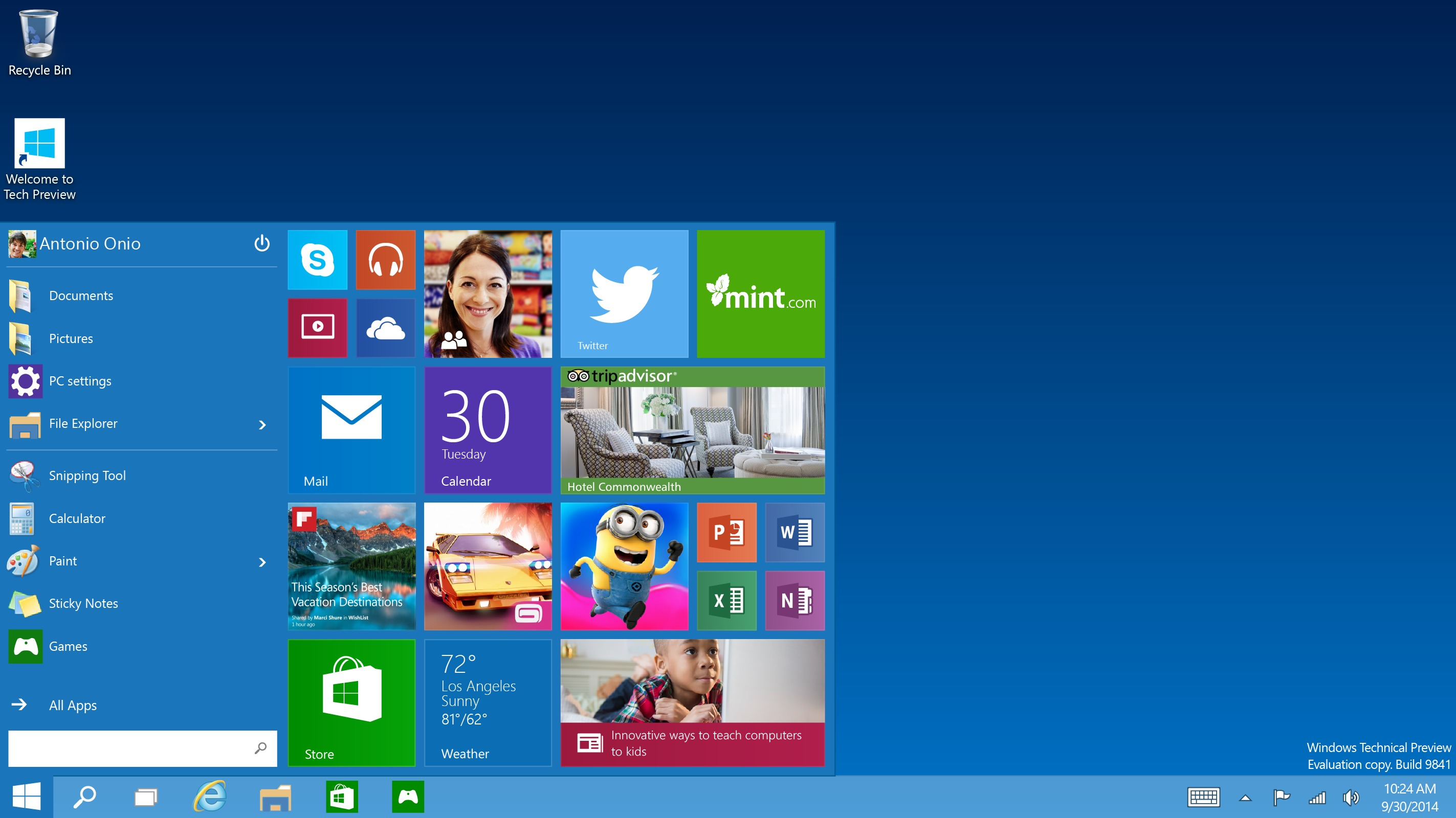 avis sur windows 10