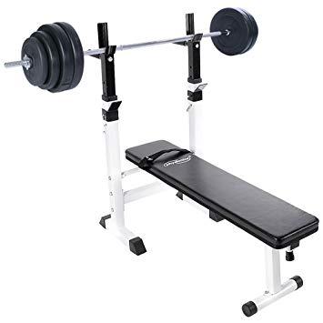 banc de musculation avec repose barre