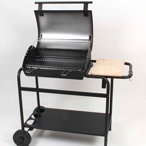 barbecue en fonte avec couvercle