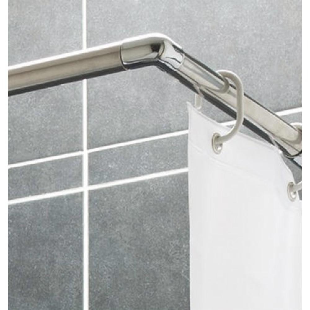 barre de rideau de douche angle