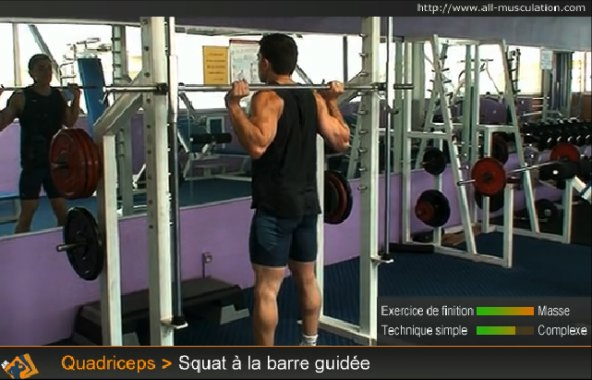 barre guidée squat