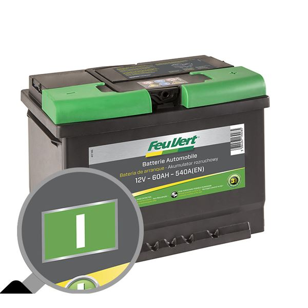 batterie feu vert