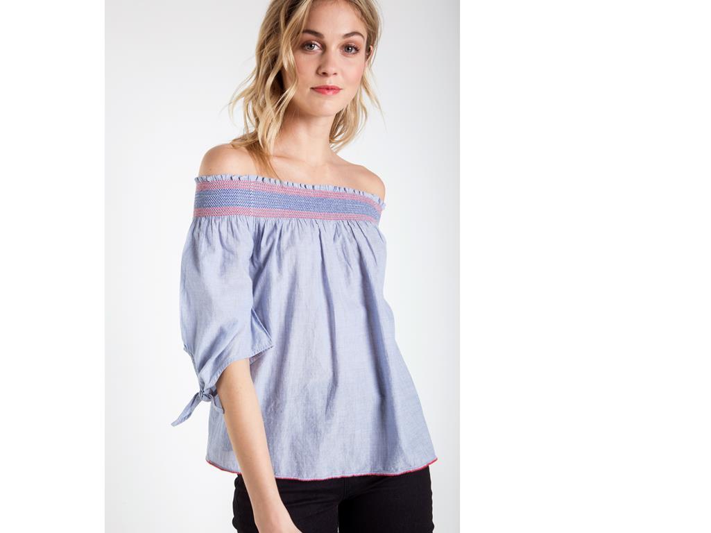 blouse épaules dénudées