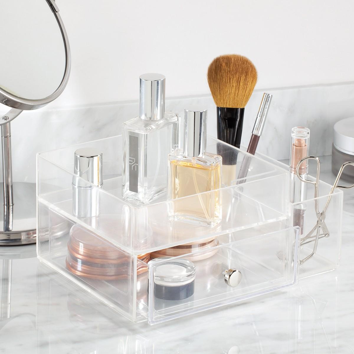 boite rangement maquillage transparent
