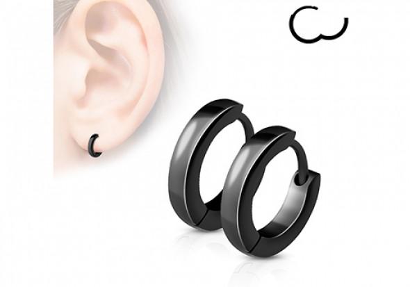 boucle oreille homme noir