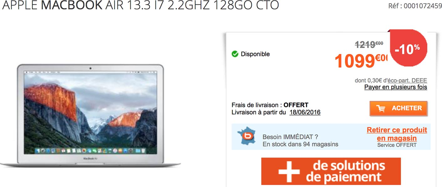 boulanger macbook