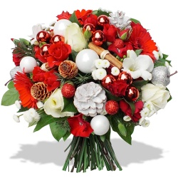bouquet de fleurs noel