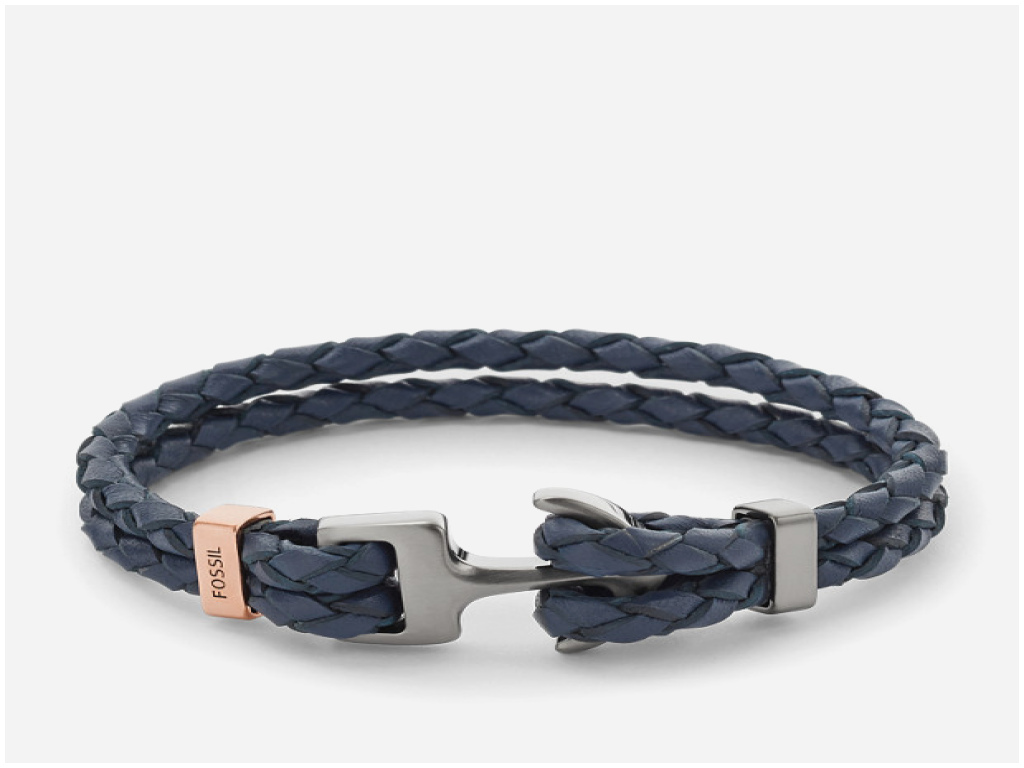 bracelet ancre homme fossil