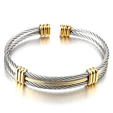 bracelet cable acier femme