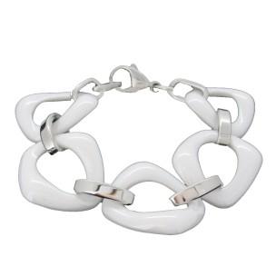bracelet céramique blanc femme