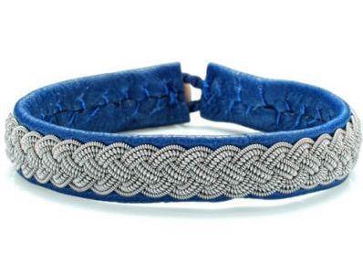 bracelet cuir et argent tresse femme