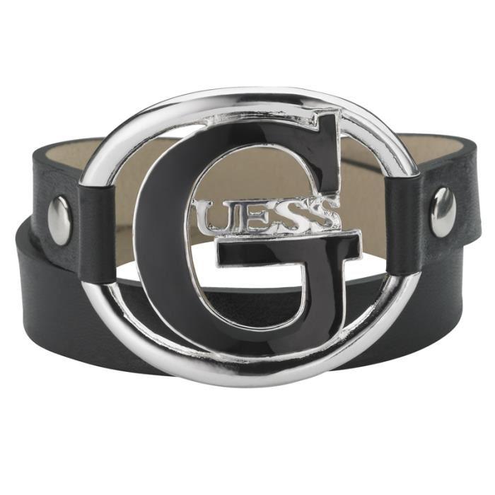 bracelet cuir femme guess