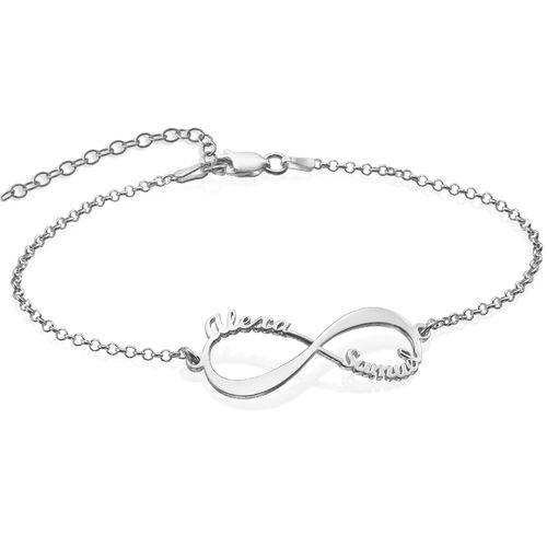 bracelet infini avec prenom
