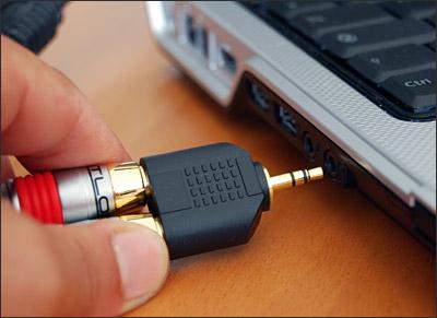 brancher ampli sur pc portable