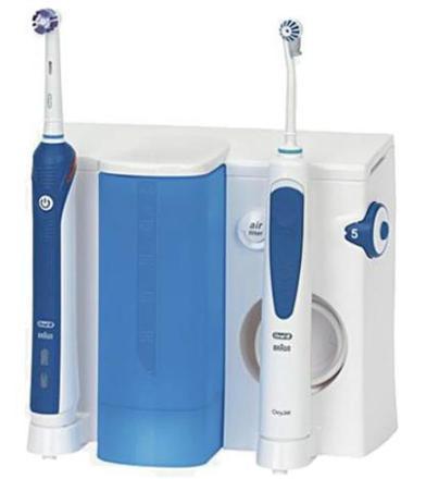 brosse a dent avec jet dentaire