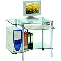 bureau ordinateur verre