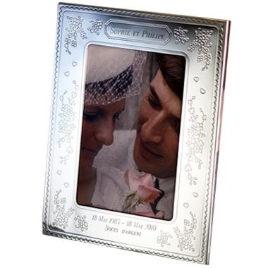 cadre photo mariage gravé