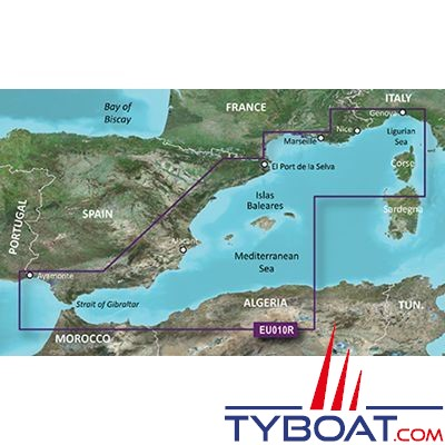 carte marine garmin