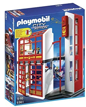 caserne pompier playmobil