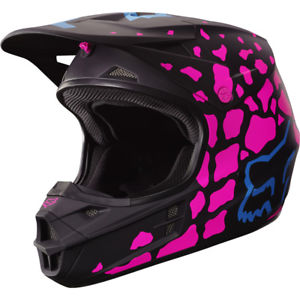 casque cross rose