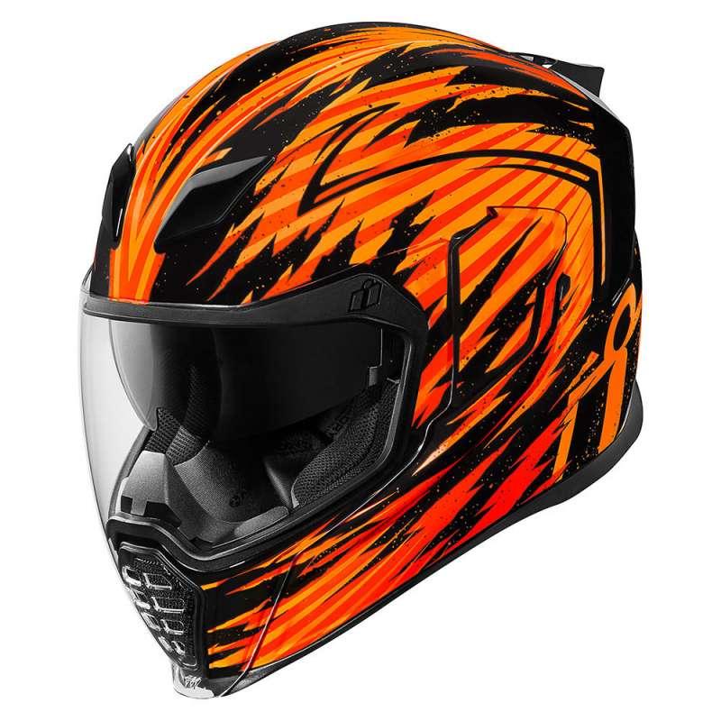casque moto orange