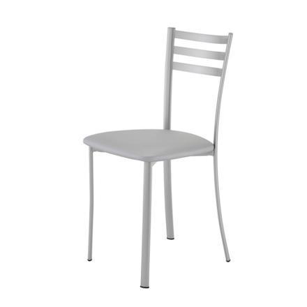 chaise cuisine metal gris