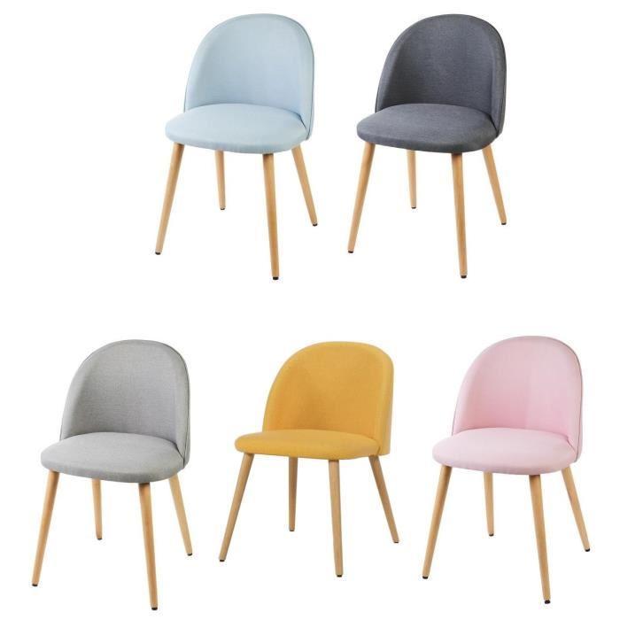 chaise scandinave couleur