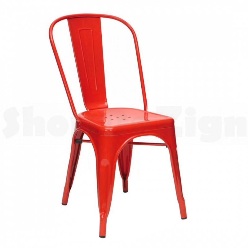 chaise tolix rouge