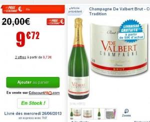 champagne bon pas cher