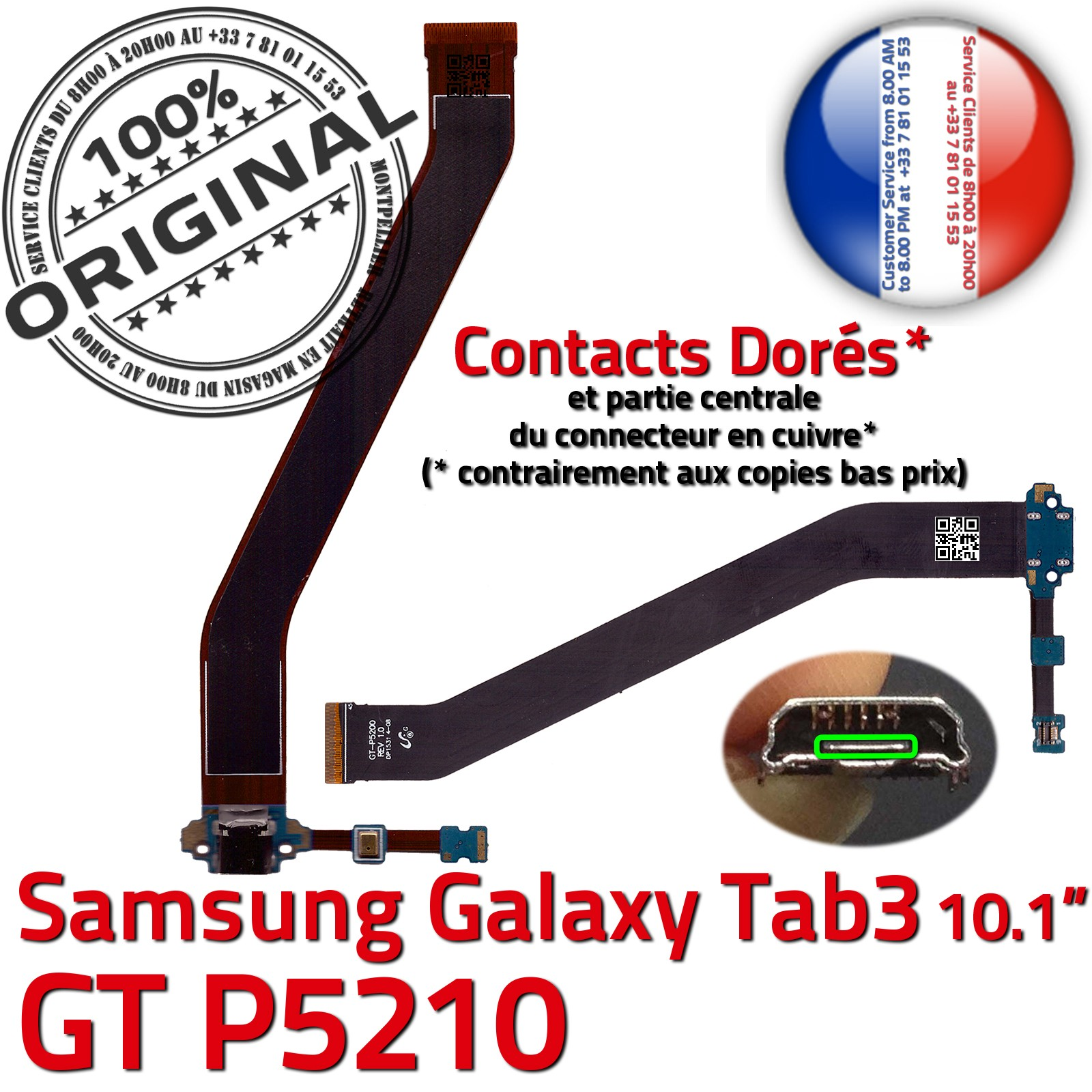 chargeur galaxy tab 3 gt p5210