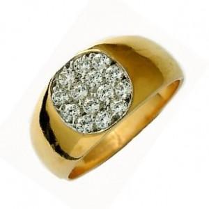 chevalière homme diamant