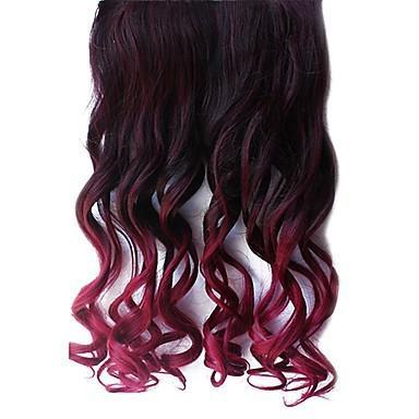 cheveux noir dégradé rouge