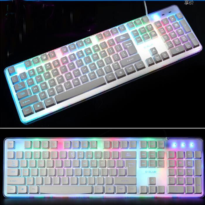 clavier blanc gamer
