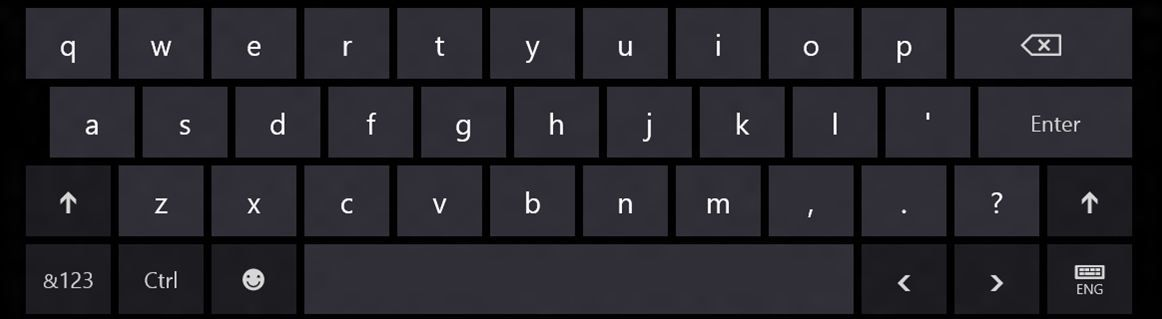 clavier tactile windows 8