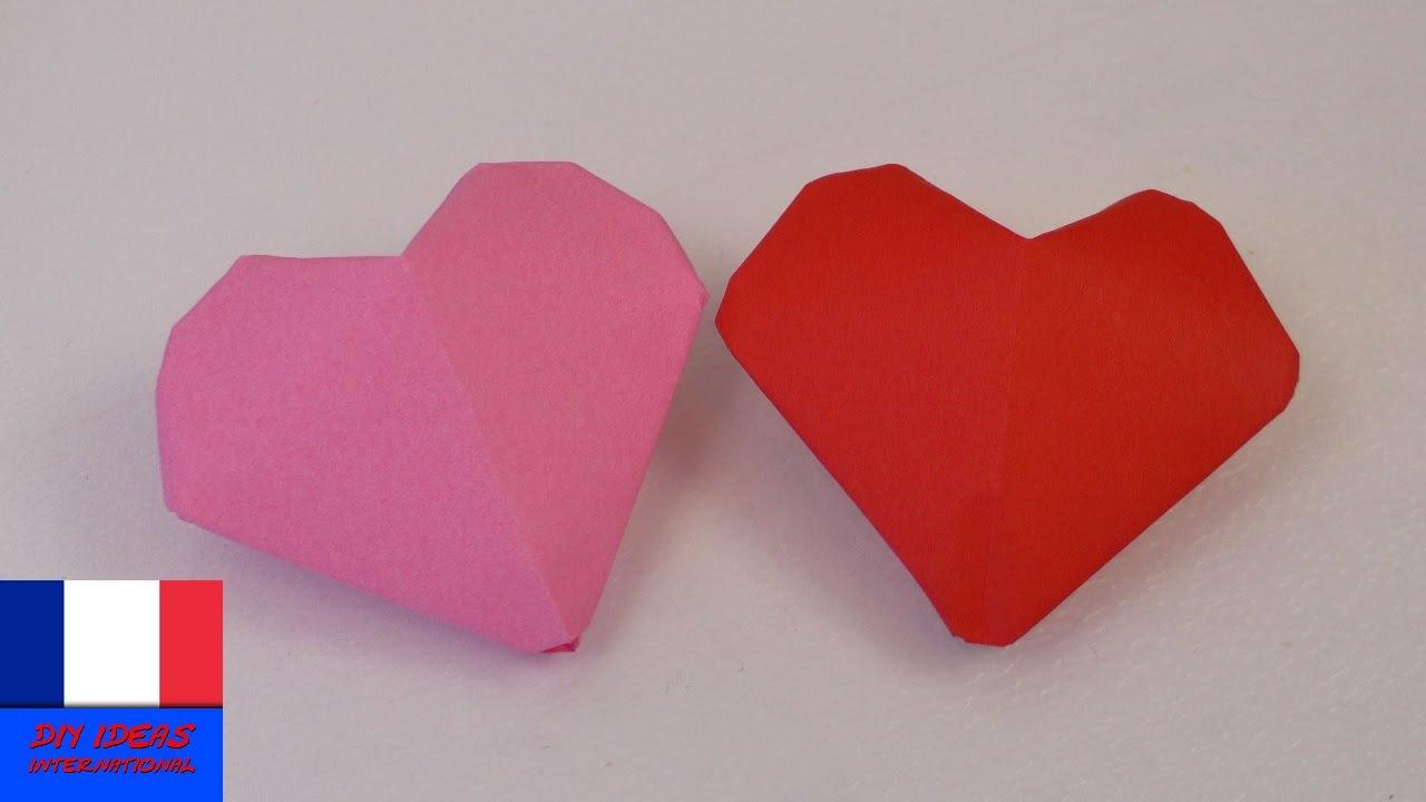 coeur origami 3d