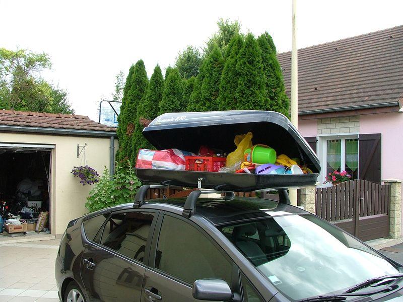 coffre de toit avec barre
