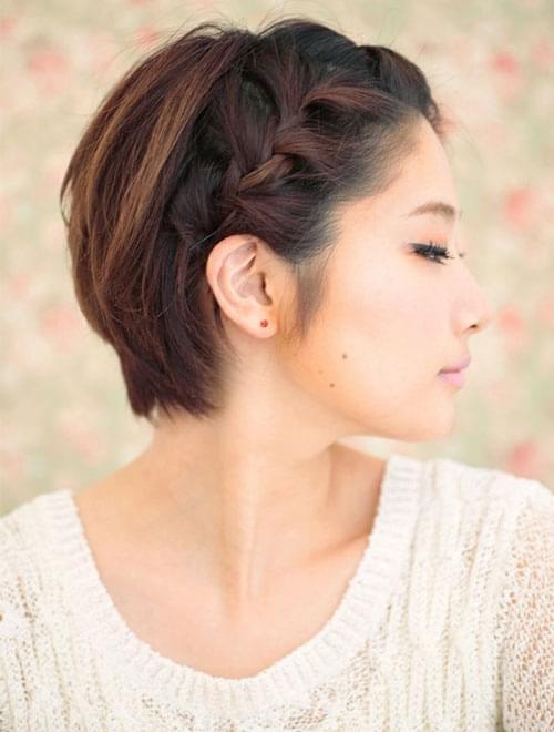coiffure pour cheveux court attaché
