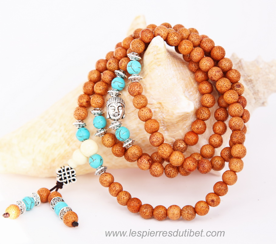 collier mala tibétain