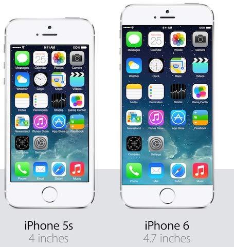 comparaison iphone 5s et 6s