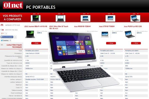 comparateur pc portable