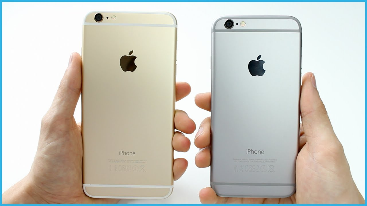 comparatif iphone 6 et 6s